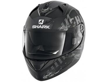 Мотошлем Shark Ridill Skyd Mat Black-Grey-White L